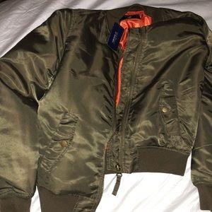 Bomber jacket - olive green-